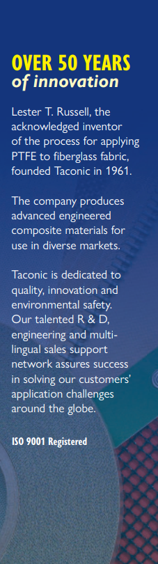 Taconic PTFE Coated Advanced Engineered Composite Materials